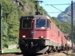 Gotthard-Sudrampe/8181/re-1010-oberhalb-von-bodio-auf Re 10/10 oberhalb von Bodio auf dem Weg zum Gotthard am 19.09.2007